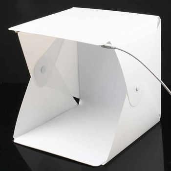 Przenośny mini składany photo studio softbox lekkie pudełko blat strzelanie namiot zbudowany w led softbox tanie i dobre opinie Mettzchrom 20x20x20 mc23