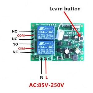 Image 4 - 433Mhzรีโมทคอนโทรลไร้สายRF AC 220Vรีเลย์ตัวรับสัญญาณและสำหรับประตู