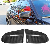 A Pair Real Carbon Fiber Car Rearview Side Mirror Cover Caps Shell Replacement For BMW F15 X5 F16 X6 X4 F26 X3 E83 2014 2017