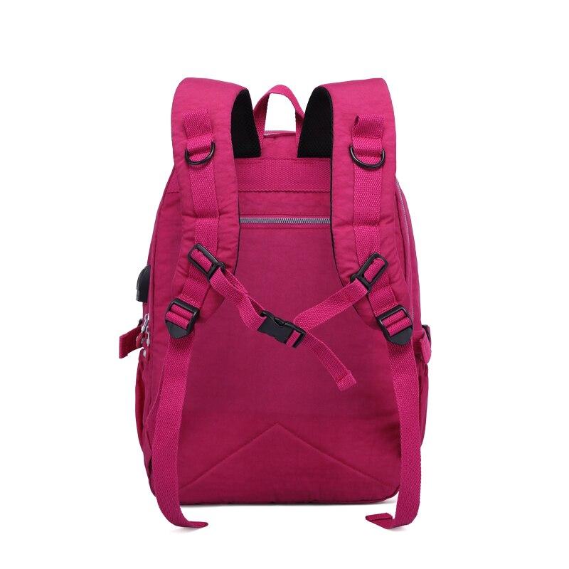 Image 3 - TEGAOTE Nylon Backpack Women Bolsa Mochil Multi Pocket Waterproof  Travel Back Pack Kids School Bag for Teenage Girl USB  ChargerBackpacks