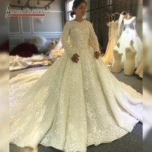 2020 мусульманское свадебное платье для девочек с полной подкладкой кружевное свадебное платье с длинным шлейфом Дубай