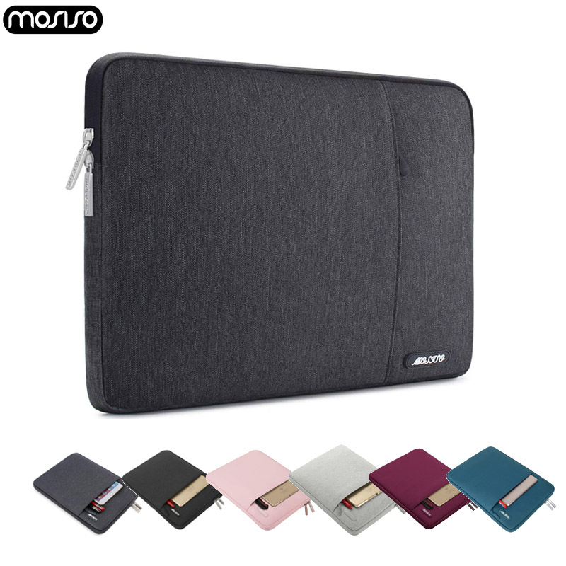 MOSISO 11 13 13.3 14 15 inch Notebook Sleeve Polyester Laptop Bag Case for New Macbook Pro13 Touch Bar 2017 2018 2019 Mac Air 13 image