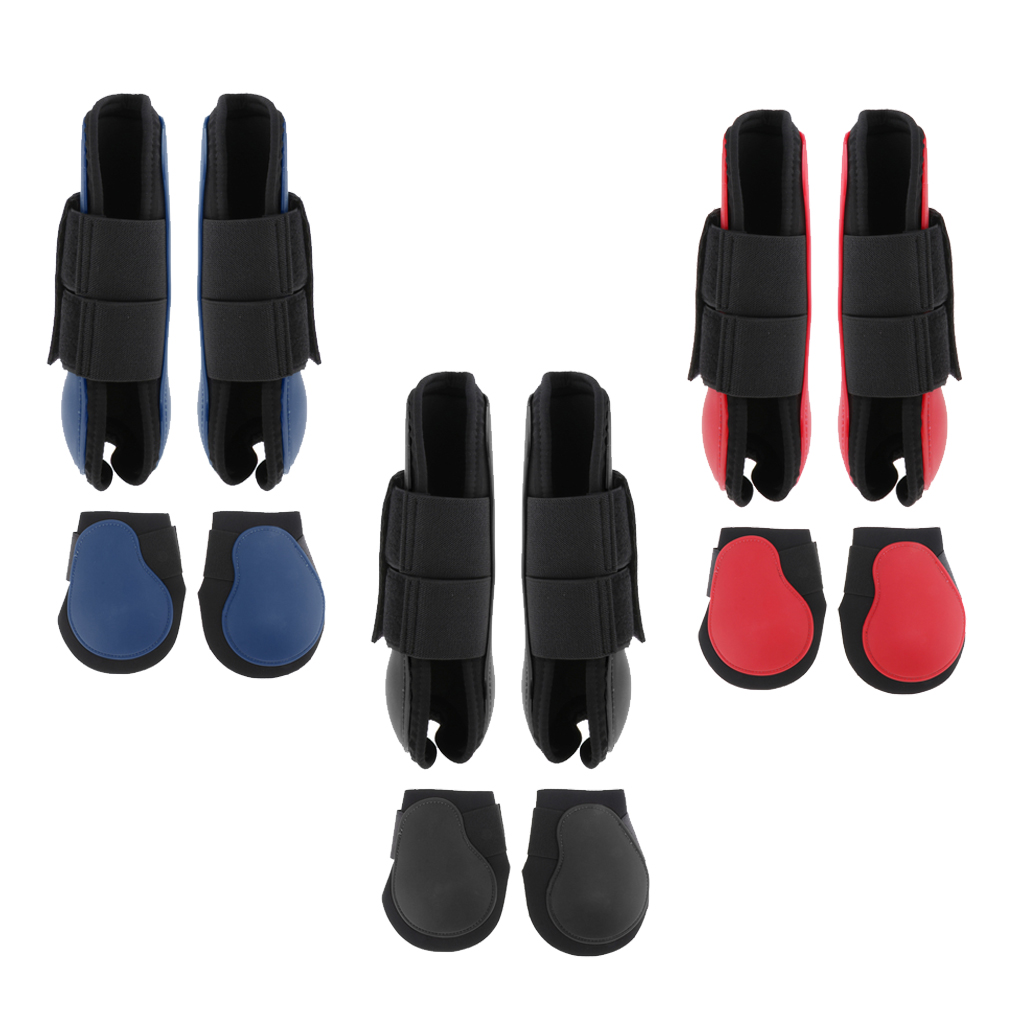 1 Pair Horse Leg Boots Hind Or Front Leg Protect Wraps Horse Travel Boots Leg Protection WRAP Equestrian Equipment