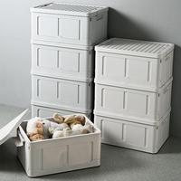 접을 수있는 플라스틱 저장 상자 상자 쌓을 수있는 가정 차고 창고 탁상용 foldable 저장 상자 차 내복 조직자
