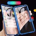 Магнитный чехол для телефона с адсорбцией для Huawei Honor 20 360  откидная задняя крышка из закаленного стекла для Honer 20 Pro 10 Lite 10  световые чехлы