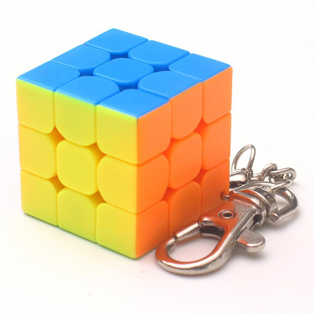 Мини-брелок DishyKooker 3 см, 3x3, волшебный кубик, Умный кубик, игрушка и креативное украшение для ключей