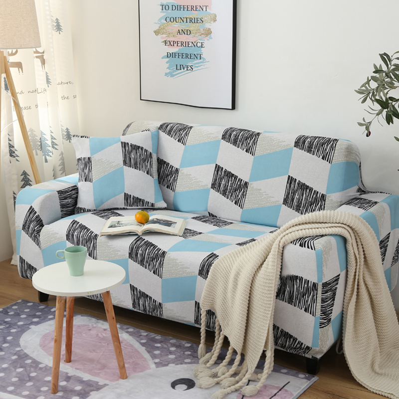 Sofa Covers For Living Room Printing Color Corner Elastic Spandex Slipcovers Couch Cover Stretch Sofa Towel L Shape Need Buy 2pi