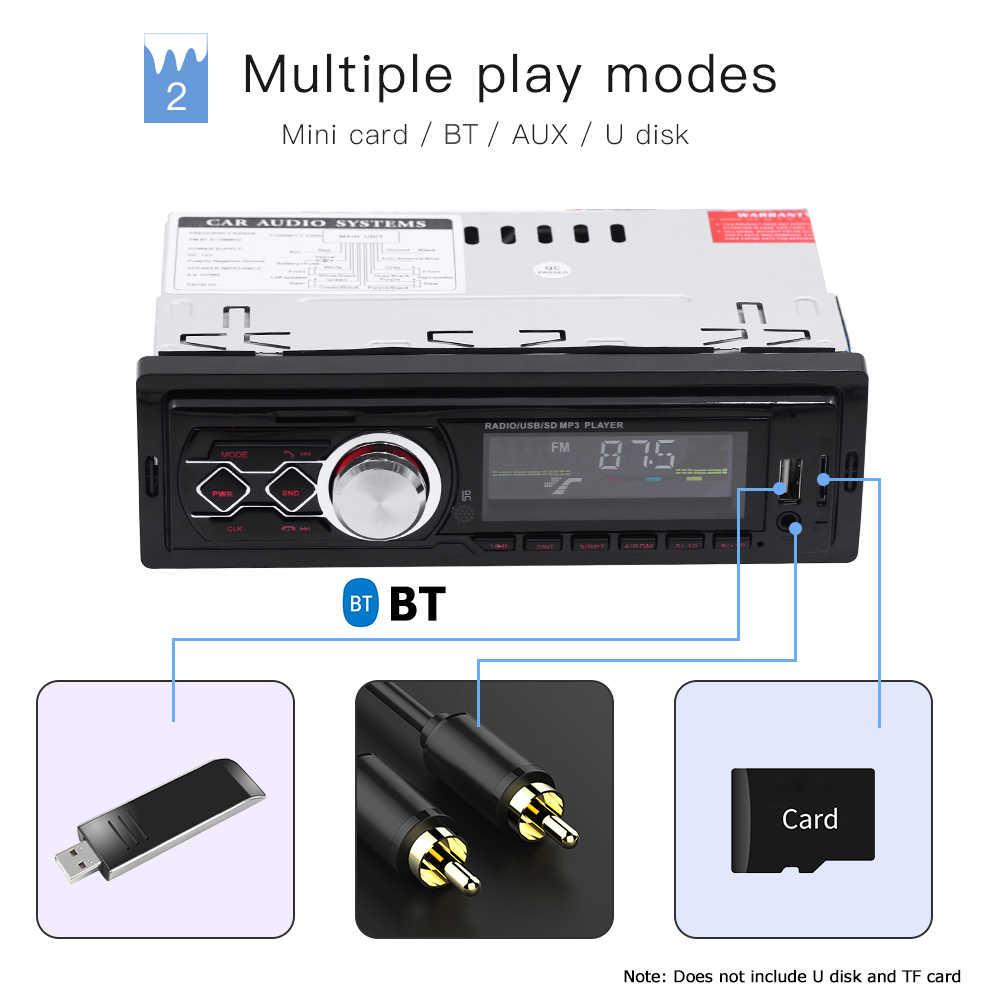 مشغل MP3 للسيارة مزود ببلوتوث MP3 1788 12 فولت جهاز استقبال ستيريو عالمي وراديو إف إم أوكس في يو القرص TF بطاقة مشغل موسيقى