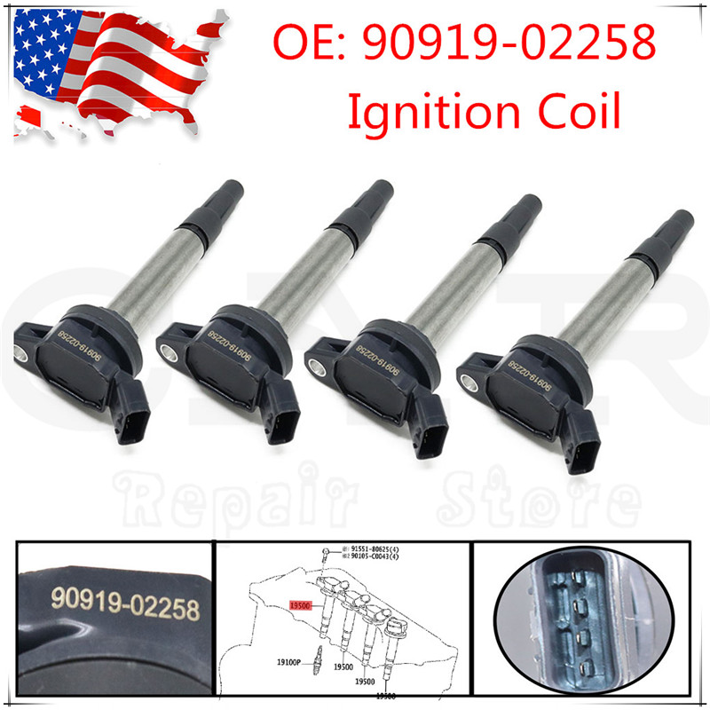 For LEXUS For TOYOT For SCION For PONTIAC <font><b>90919</b></font>-<font><b>02258</b></font> 9091902258 Ignition Coils <font><b>90919</b></font> <font><b>02258</b></font> image