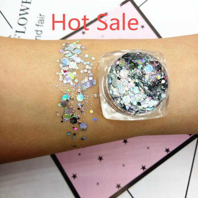 19 Colors Mermaid Sequins Glitter Eye Shadow Jelly Glitter Gel Makeup Cosmetics Waterproof Lasting Shimmering Eye shadow TSLM1 4