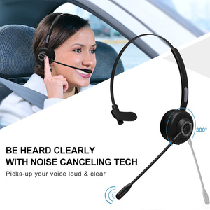 Image 4 - Office Mono With Charging Base Aviation Truck Driver Bluetooth Headset Handsfree Wireless Noise Cancelling Telephone Operator