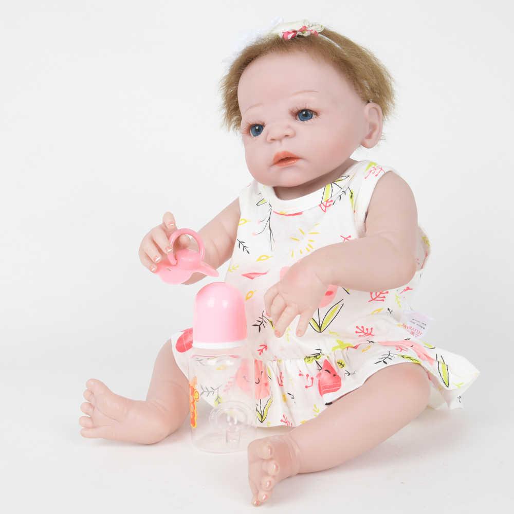 55 cm elegante bebe reborn silicone pano de vinil corpo lifelike recém-nascido forma realista boneca do bebê brinquedo para o dia das crianças presentes do miúdo