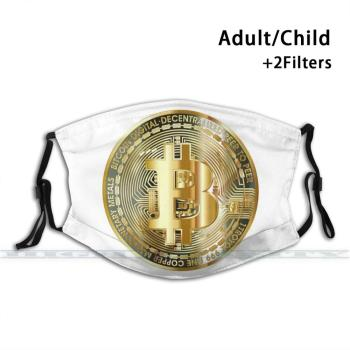 Bitcoin Cryptocurrency Print Reusable Mask  1