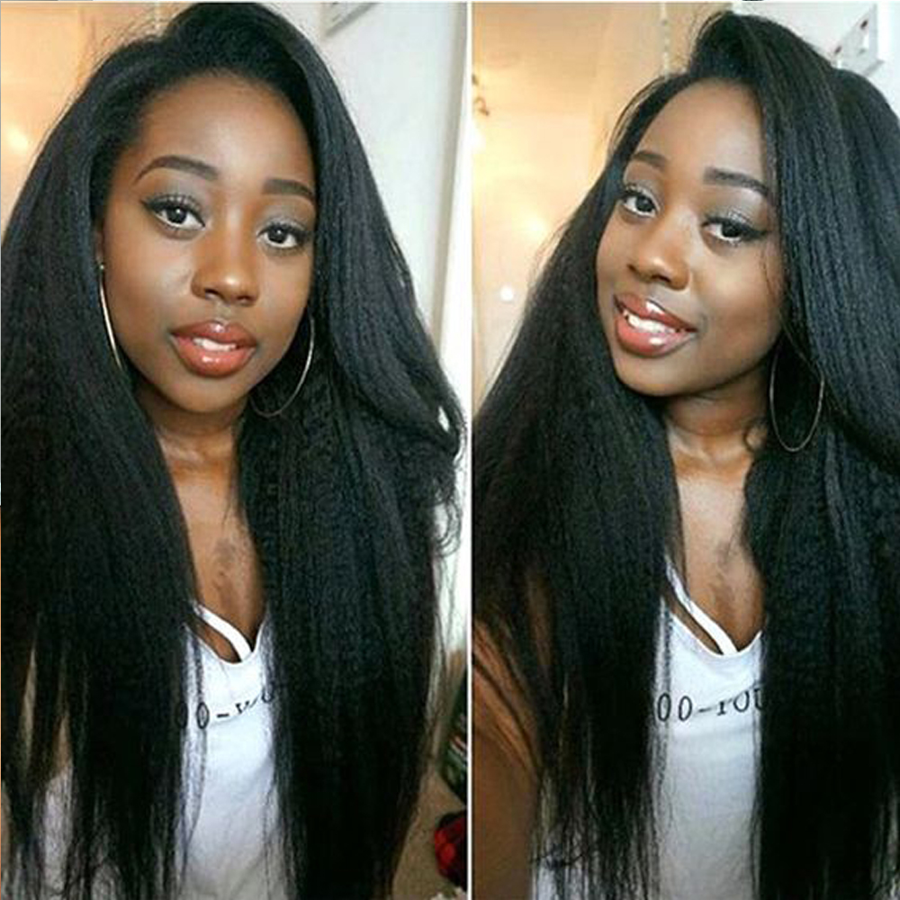 Curly Haman Hair Wig Brazilian Kinky Straight 4*4 Lace Closure Prepluck With Baby Hair Closure Wig 100% Human Hair Wigs
