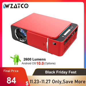 Image 1 - WZATCO T6 Android 10 WIFI Optional 3000lumen 720p HD Tragbare LED Projektor HDMI Unterstützung 4K 1080p heimkino Proyector Beamer