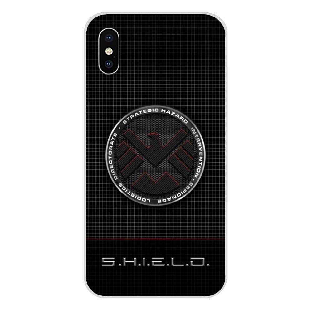 Cartoon Comic Marvel Shield Logo Poster For Huawei P7 P8 P9 P10 P20 P30 Lite Mini Plus Pro Y9 Prime P Smart Z 2018 2019