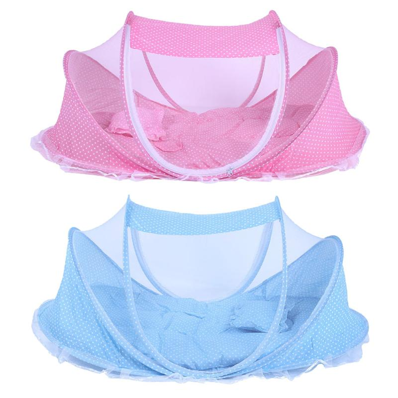 Baby Crib Netting Bedding Folding Baby Mosquito Nets Bed Mattress Pillow Three-piece Suit For 0-2 Years Old Children Netting