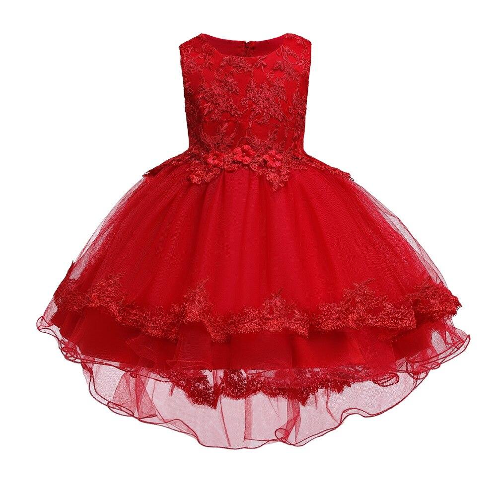 Gril's Dress Princess Dress Flower Boys/Flower Girls Tutu Trailing Wedding Dress INS Special Source