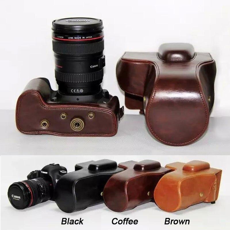 Color : Brown 18-55mm // 18-105mm // 18-140mm Lens Black CYcaibang Camera Bag Good Body Camera PU Leather Case Bag for Nikon D5300 // D5200 // D5100