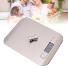 Electronic Kitchen Scale Digital Food Stainless Steel Weighing LCD High Precision Measuring Tools