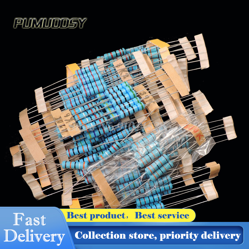 150PCS Resistor Assortment Kit Set 2W carbon film 1K ohm-2M ohm 5/% 30 kinds