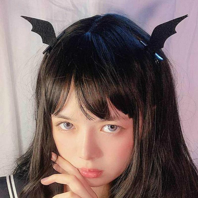 1 пара мини-заколок с крыльями летучей мыши, вечерние головные уборы на Хэллоуин для женщин и девочек, новинка, страшные аксессуары для волос