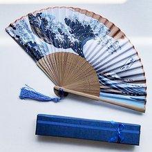 Складной ручной складной вентилятор летом Открытый путешествия Охлаждающие вентиляторы декоративные веера