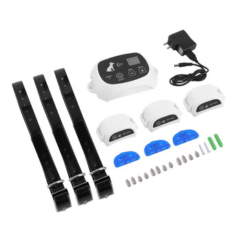 Rechargeable & Waterproof Wireless 1/2/3 Dog Fence No-Wire Pet Containment System With Progressive Warning Tone US Plug