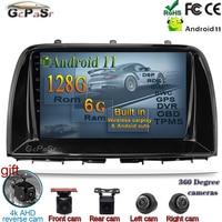 Lettore Autoradio Android 11 per Mazda CX5 CX-5 CX 5 2012 2013 - 2015 lettore Video multimediale Autoradio Bluetooth navigazione GPS