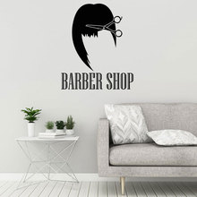 Barbershop Sign Wall Sticker Hair Salon Stylist Hairdresser Decals Vinyl Interior Decor Barber Shop Window Mural Removable A372 barber shop logo sign wall decal haircut vinyl interior stickers hairdresser art mural hair salon emblem hair home decor syy490
