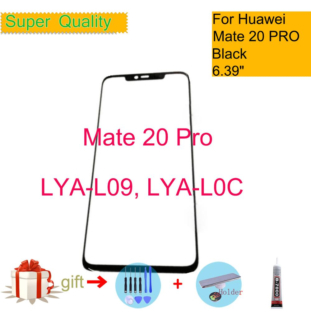 For Huawei Mate 20 Pro LYA-L09 LYA-L0C Touch Screen Touch Panel Front Outer Glass Mate 20 PRO LCD Glass Lens Replacement