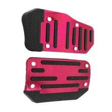 2 в 1 пластиковый алюминиевый сплав Нескользящие тормозные педали Накладка для автомобиля