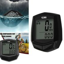 купить New Waterproof Bicycle With Multifunctional LCD Bicycle Cable Computer Intelligent Speedometer Durable Portable Cycling Accessor дешево