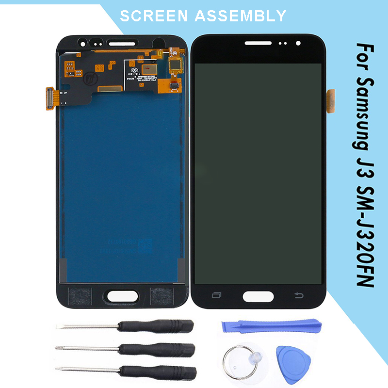 Repairment Phone Touch Panel For J3 <font><b>SM</b></font>-<font><b>J320FN</b></font> <font><b>LCD</b></font> Display Replacement Touch Screen Suitable For <font><b>Samsung</b></font> Galaxy J3 <font><b>SM</b></font>-<font><b>J320FN</b></font> image