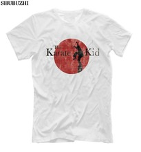Zomer shubuzhi Korte Mouwen Plus Size Mannen T-shirt Zomer Karate Kid T Shirt Mens Movie Daniel Laruso Mr Miyagi t-shirt(China)
