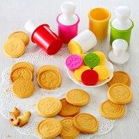 Silikon Cookie Stempel Keks Weihnachten Cookie Schneider 3D DIY Pastry Kuchen Cookie Dichtung Form Geschnitten Süßigkeit Keks Mold Kochen Tools-in Cookie-Tools aus Heim und Garten bei
