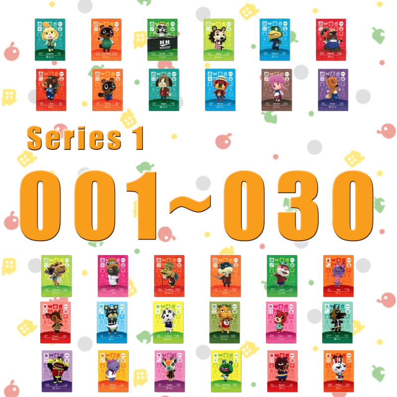 Amiibo Animal Crossing New Horizons Amiibo Card Set Work For NS Switch Games Series 1 (001 To 030)