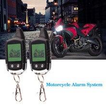 İki Yönlü Motosiklet Hırsız Alarm Sistemi Güvenlik Uyarısı Su Geçirmez Alarma Moto LCD Ekran Yanıp Sönen Işık Alarmı Uzaktan Kumanda