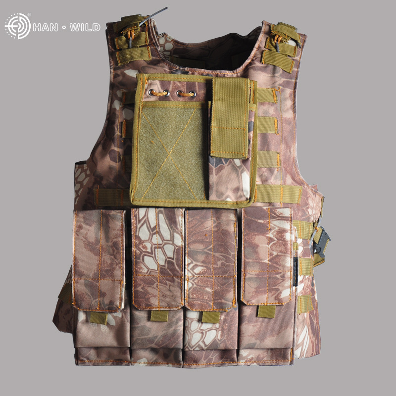 US Military Amphibious Tactical Vest CS Camouflage Combat Waistcoat Lightweight Field Operations Protection