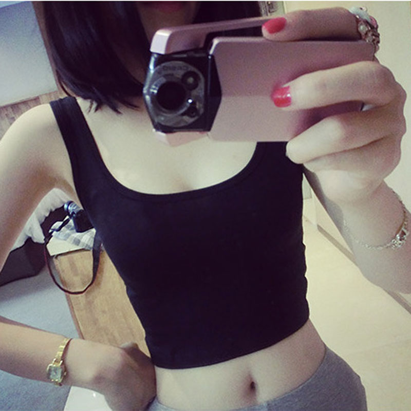 Summer Halter Tops Women Sexy Short Style Sleeveless Tank Top Solid Black Casual Summer Woman Clothes Tops Mujer Verano 2020