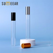 100 pcs/lot 10ml Glass Perfume Roll on Bottle with Stainless Steel Ball Essential Oil Bottle