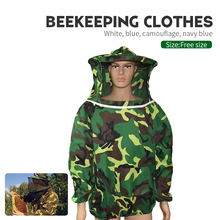 1 Set Beekeeping Clothing Cotton Safety Protective Jacket With Hat for Anti bee fishing breathable veil Clothes Beekeeper Suit