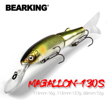 BEARKING 2019 A + przynęty rodzina magallon 113mm 16g 113mm 13 7g 88mm 7 2g korba minnow gorący model przynęty tanie i dobre opinie Reservoir Pond Ocean Boat Fishing Ocean Beach Fishing stream Lake Morze łodzi rybackich Rzeka Zbiornik staw Ocean Rock Fishing