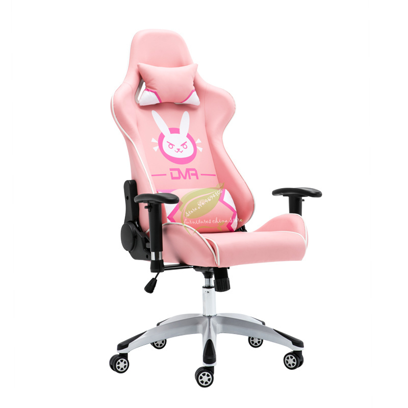 Pink Game Chair Home LOL Keep Watch Vanguard DVA The Main Sowing Chair Cute Lifting Swivel Chair Comfortable Female Dormitory