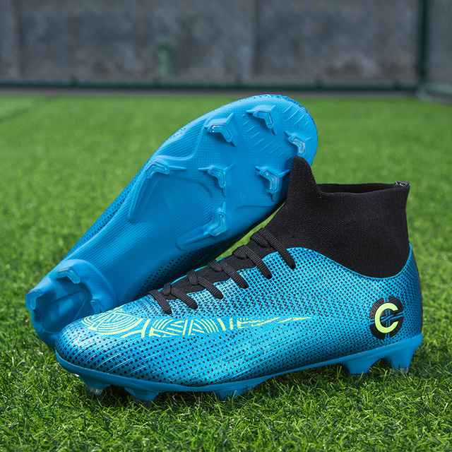 Men Large Size FG/TF Soccer Shoes Football Cleats Soccer Ankle Boots Teenager Training Sneakers Kids Indoor Sports Shoes Unisex 4
