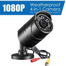 ZOSI minicámara de vigilancia impermeable para el hogar cámara de seguridad de 960H 1080P CVBS AHD TVI CVI CMOS con Sensor de bala de vídeo CCTV analógica de 3,6mm