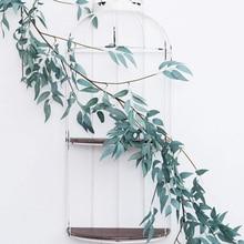Artificial Plants Flowers Decor Garden Wedding Green Wall Hanging Garland Decor for Living Room Home Party Garden Door Willow