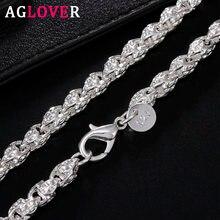 Женское и мужское ожерелье aglover из серебра 925 пробы 20 дюймов