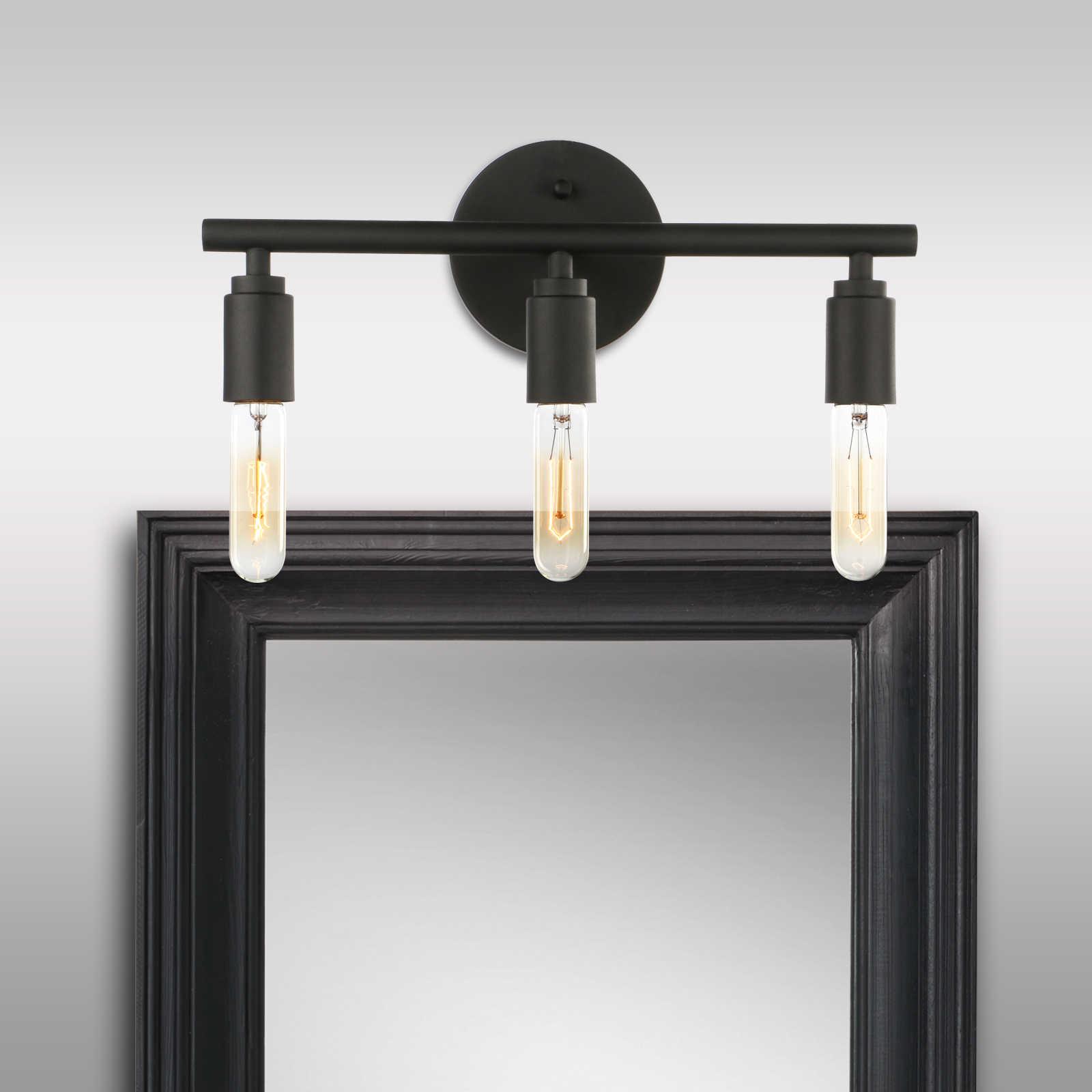 Permo 3 Light Sconce Light Matte Black Simplicity Bathroom Vanity Light Bedroom Wall Light Wall Lamps Aliexpress