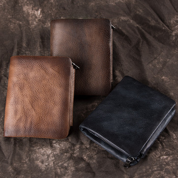 Luxury Designer Mens Wallet Leather Bifold Short Wallets Men Hasp Vintage Male Purse Coin Pouch Multi-functional Cards Wallet